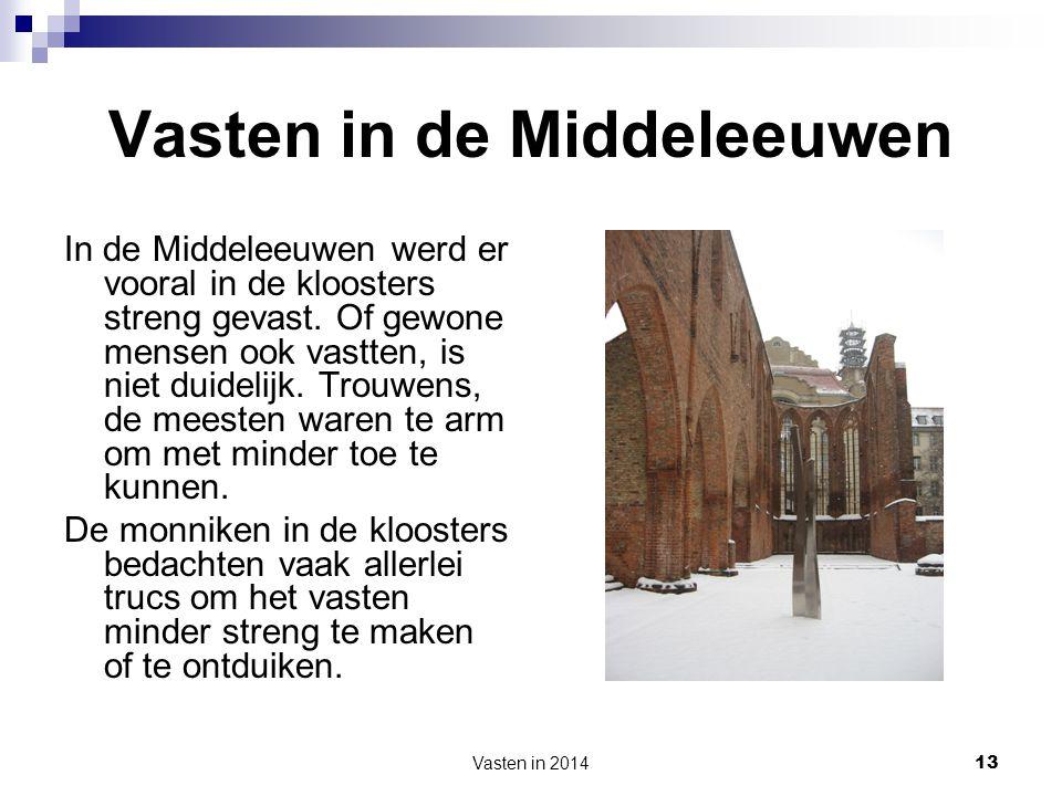 Vasten in de Middeleeuwen