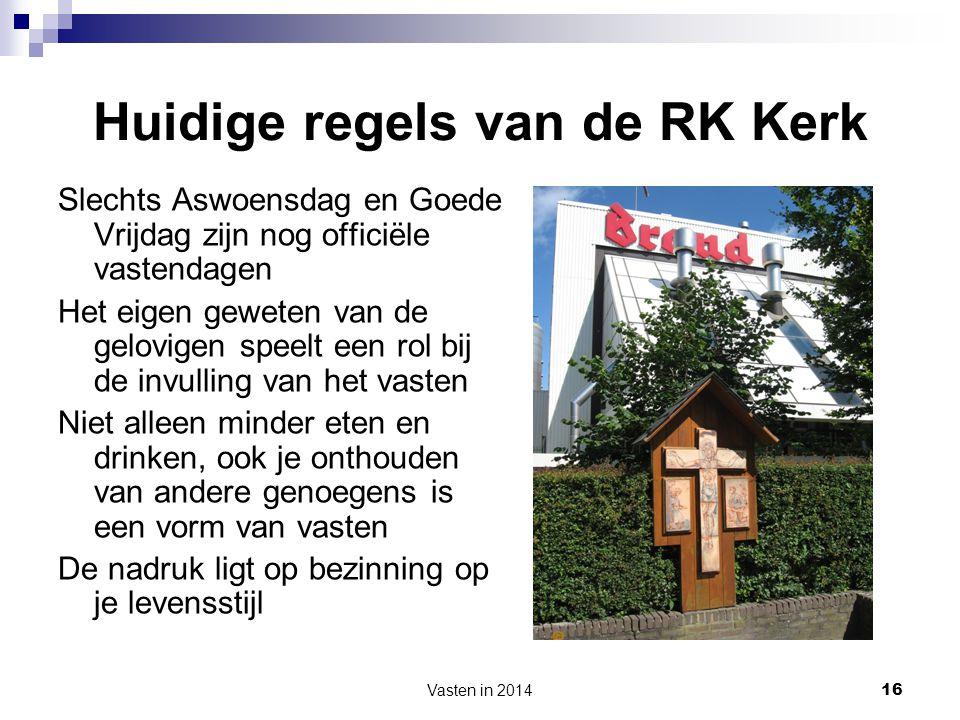 Huidige regels van de RK Kerk