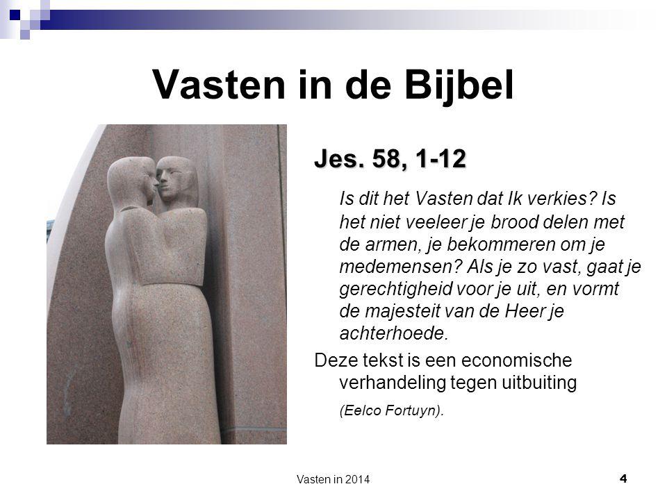 Vasten in de Bijbel Jes. 58, 1-12