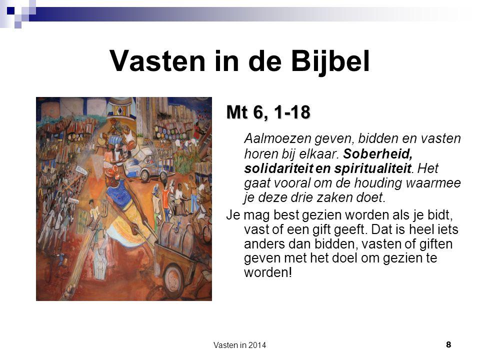 Vasten in de Bijbel Mt 6, 1-18.