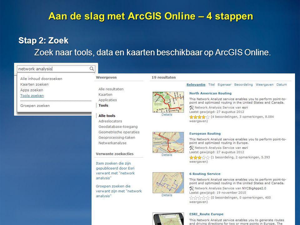 Aan de slag met ArcGIS Online – 4 stappen