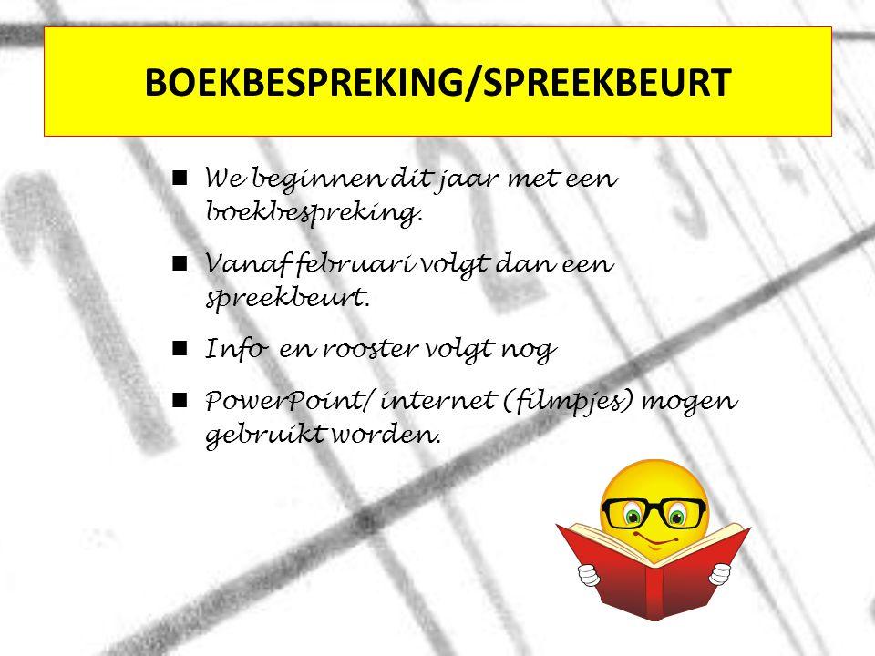 BOEKBESPREKING/SPREEKBEURT