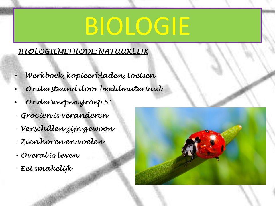 BIOLOGIE BIOLOGIEMETHODE: NATUURLIJK Werkboek, kopieerbladen, toetsen
