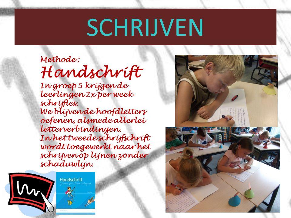 schrijven Methode : Handschrift