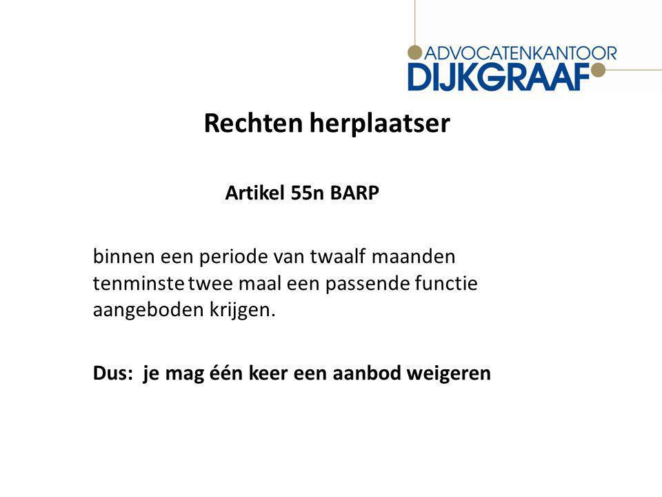 Rechten herplaatser Artikel 55n BARP