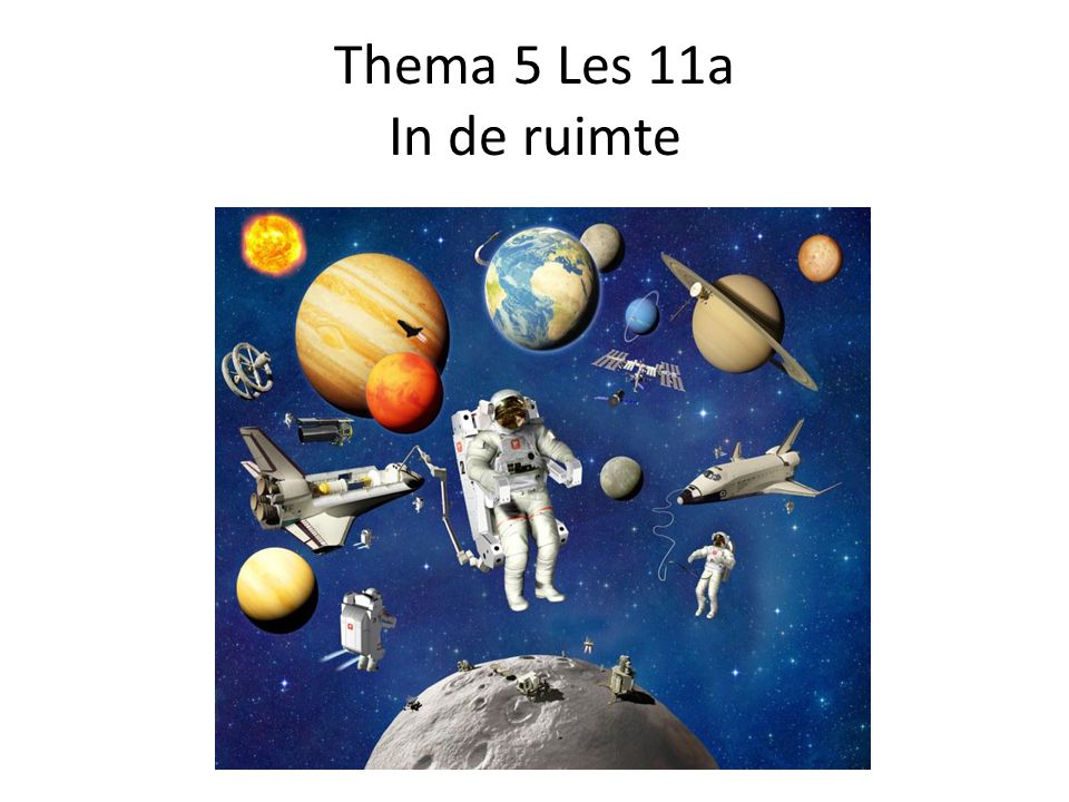 Thema 5 Les 11a In de ruimte
