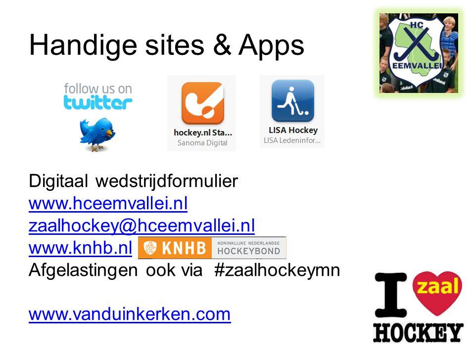 Handige sites & Apps Digitaal wedstrijdformulier www.hceemvallei.nl