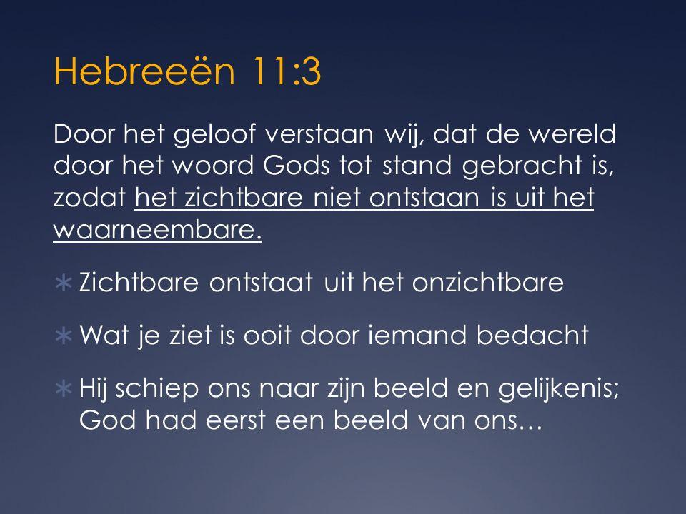 Hebreeën 11:3