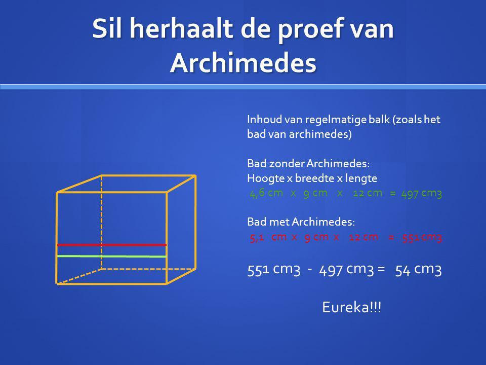 Sil herhaalt de proef van Archimedes