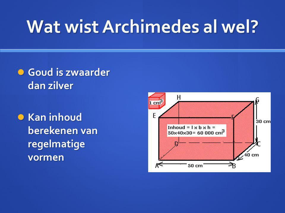 Wat wist Archimedes al wel