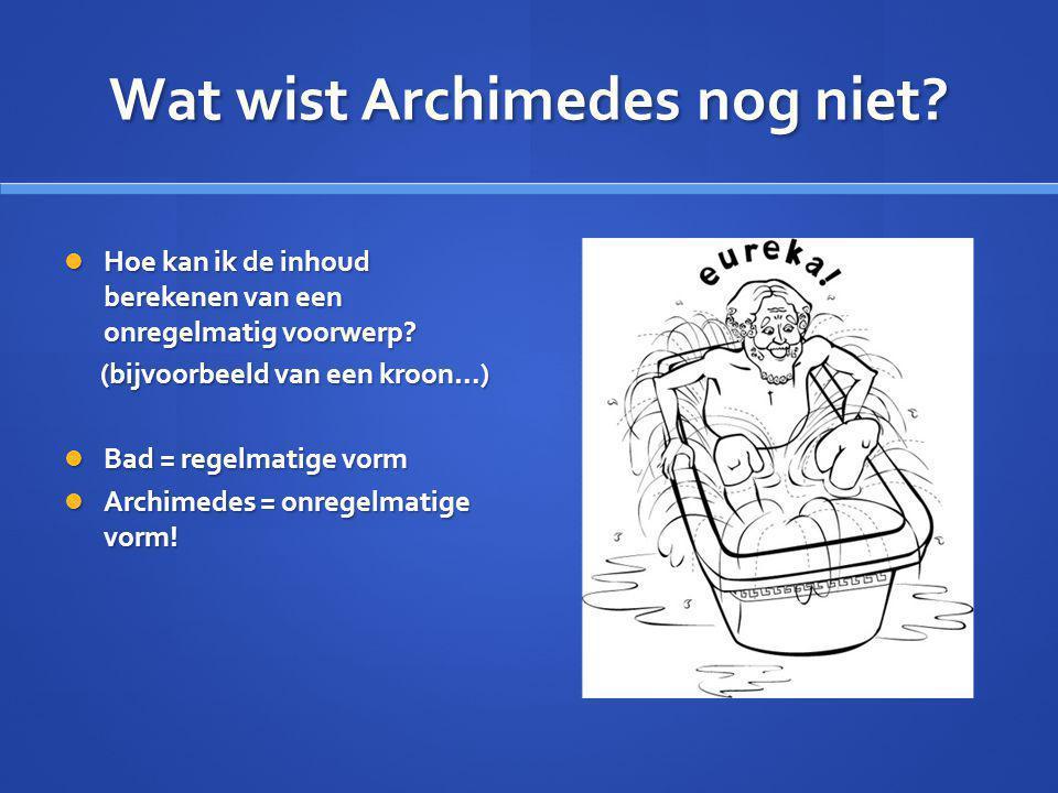 Wat wist Archimedes nog niet