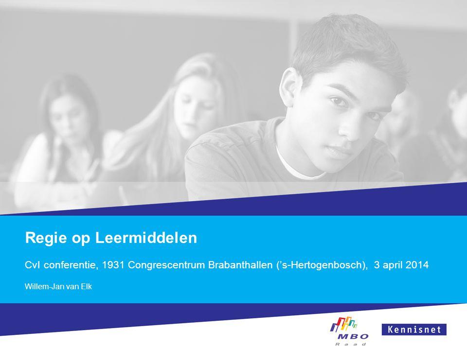 Regie op Leermiddelen CvI conferentie, 1931 Congrescentrum Brabanthallen ('s-Hertogenbosch), 3 april 2014.