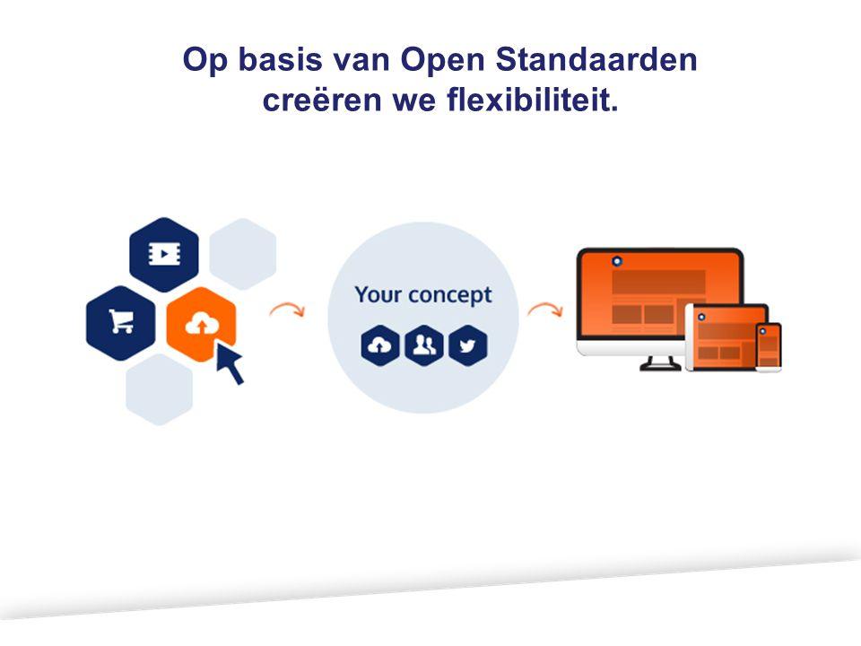Op basis van Open Standaarden creëren we flexibiliteit.