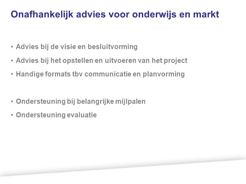 Onafhankelijk advies voor onderwijs en markt