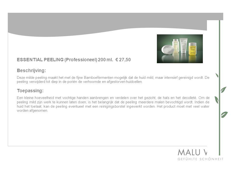 ESSENTIAL PEELING (Professioneel) 200 ml. € 27,50 Beschrijving: