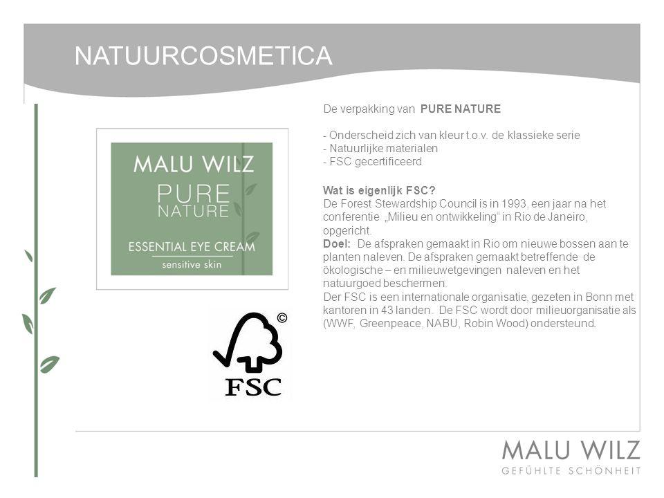 NATUURCOSMETICA De verpakking van PURE NATURE