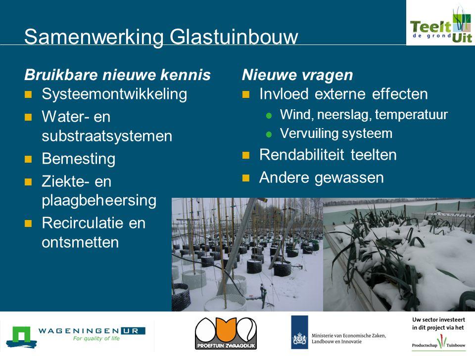 Samenwerking Glastuinbouw