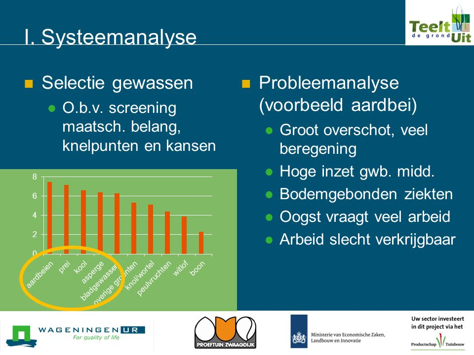 I. Systeemanalyse Selectie gewassen