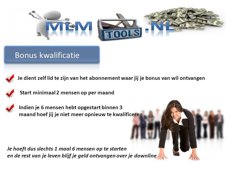 Bonus kwalificatie Je dient zelf lid te zijn van het abonnement waar jij je bonus van wil ontvangen.