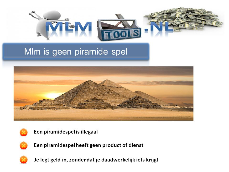 Mlm is geen piramide spel