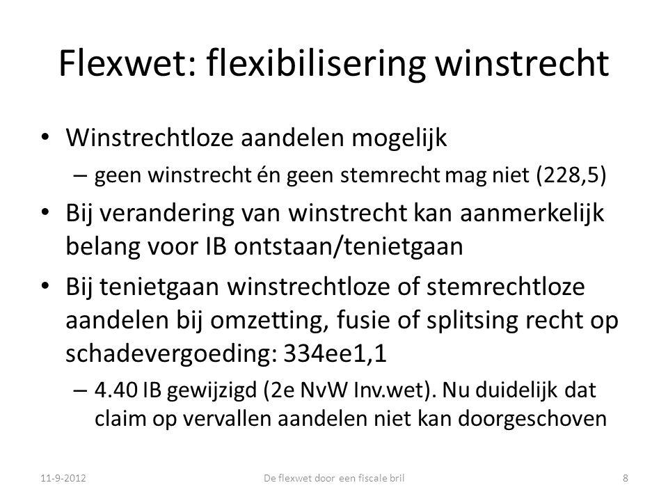Flexwet: flexibilisering winstrecht