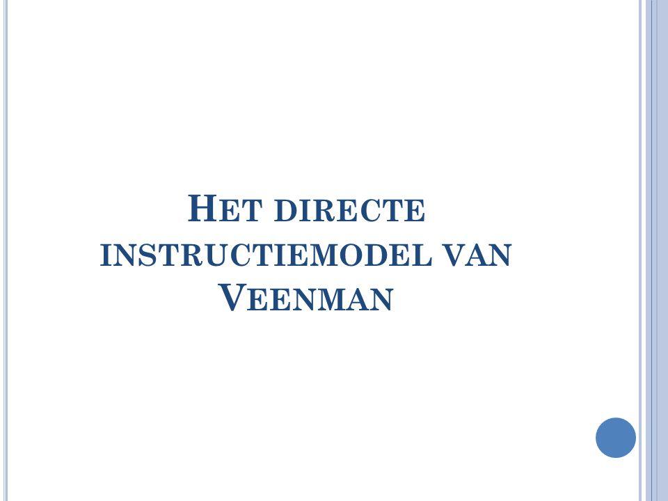 Het directe instructiemodel van Veenman