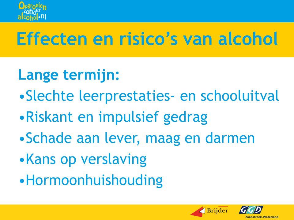 Effecten en risico's van alcohol