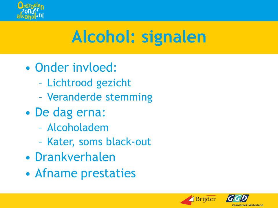 Alcohol: signalen Onder invloed: De dag erna: Drankverhalen