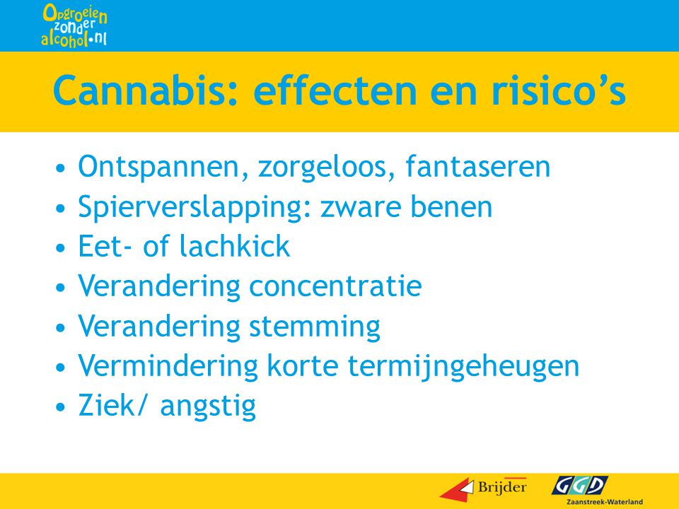 Cannabis: effecten en risico's