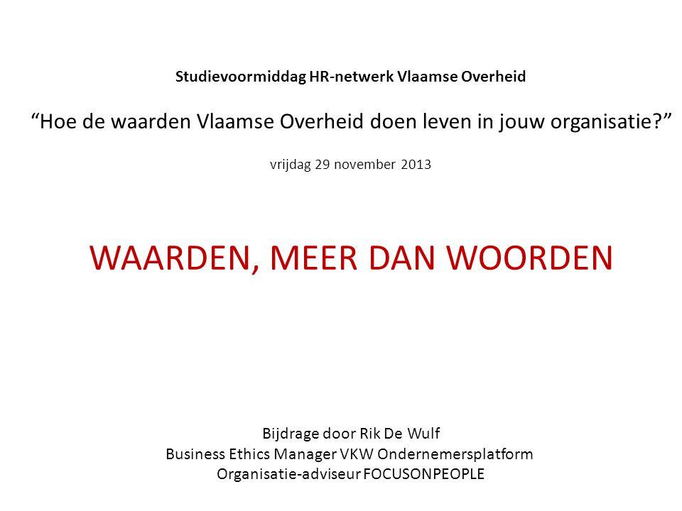 Studievoormiddag HR-netwerk Vlaamse Overheid