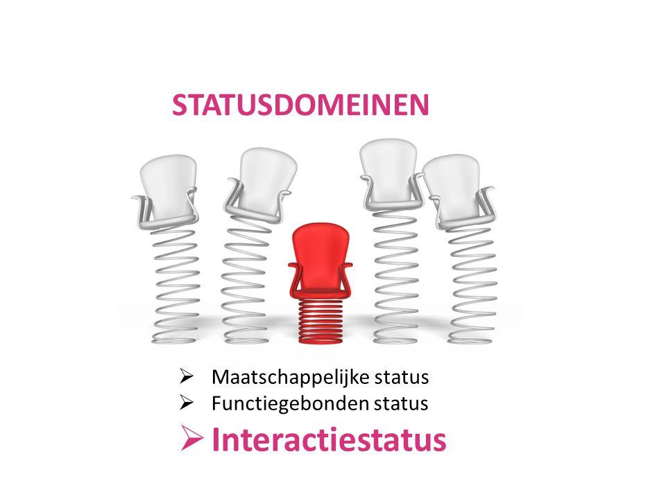 Interactiestatus STATUSDOMEINEN Maatschappelijke status