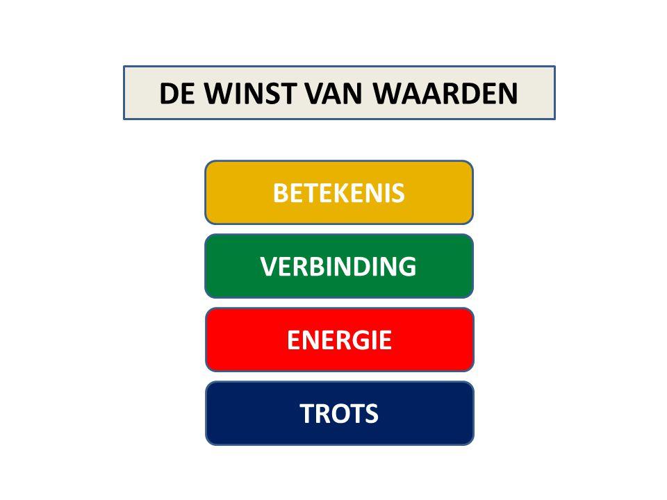 DE WINST VAN WAARDEN BETEKENIS VERBINDING ENERGIE TROTS