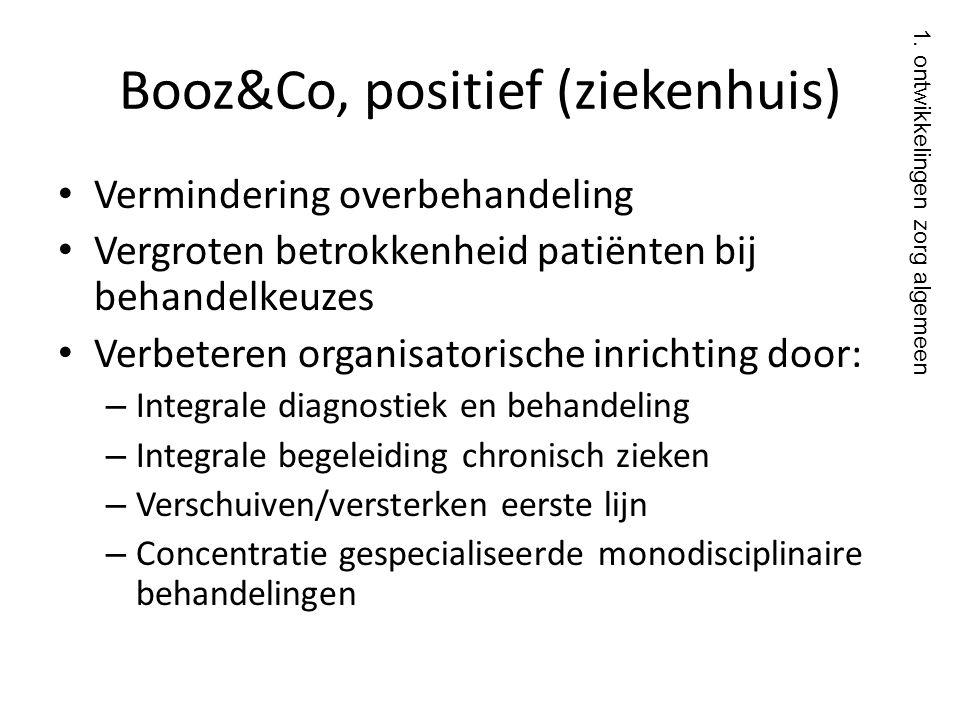 Booz&Co, positief (ziekenhuis)