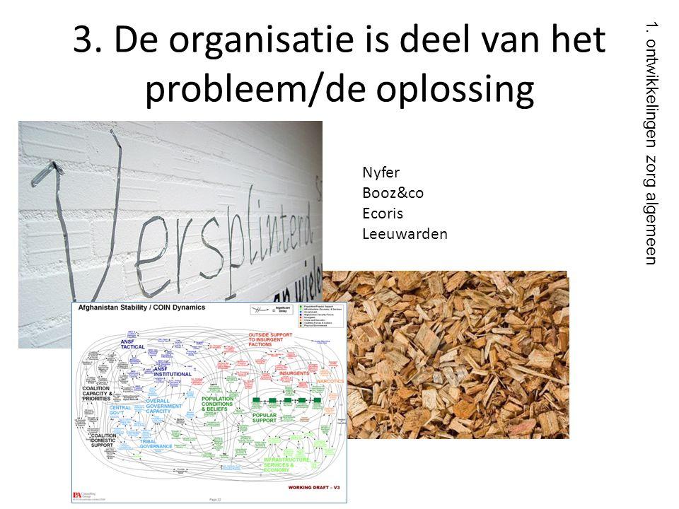3. De organisatie is deel van het probleem/de oplossing