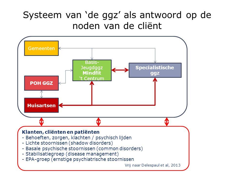 Systeem van 'de ggz' als antwoord op de noden van de cliënt