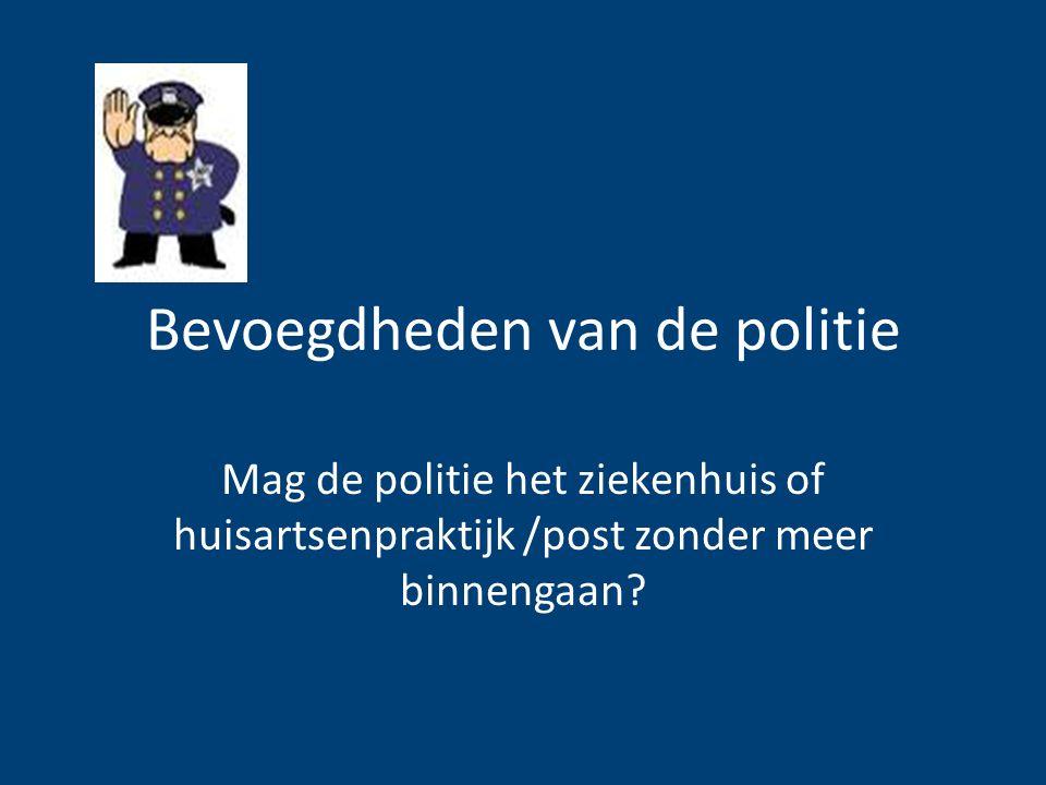 Bevoegdheden van de politie