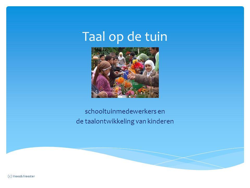schooltuinmedewerkers en de taalontwikkeling van kinderen
