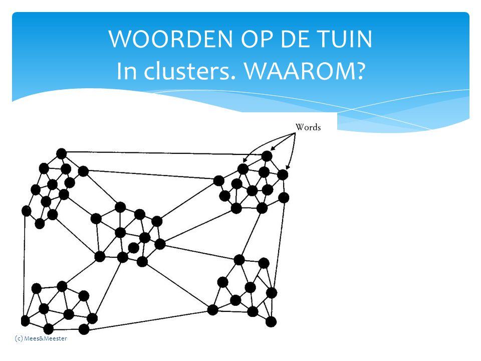 WOORDEN OP DE TUIN In clusters. WAAROM