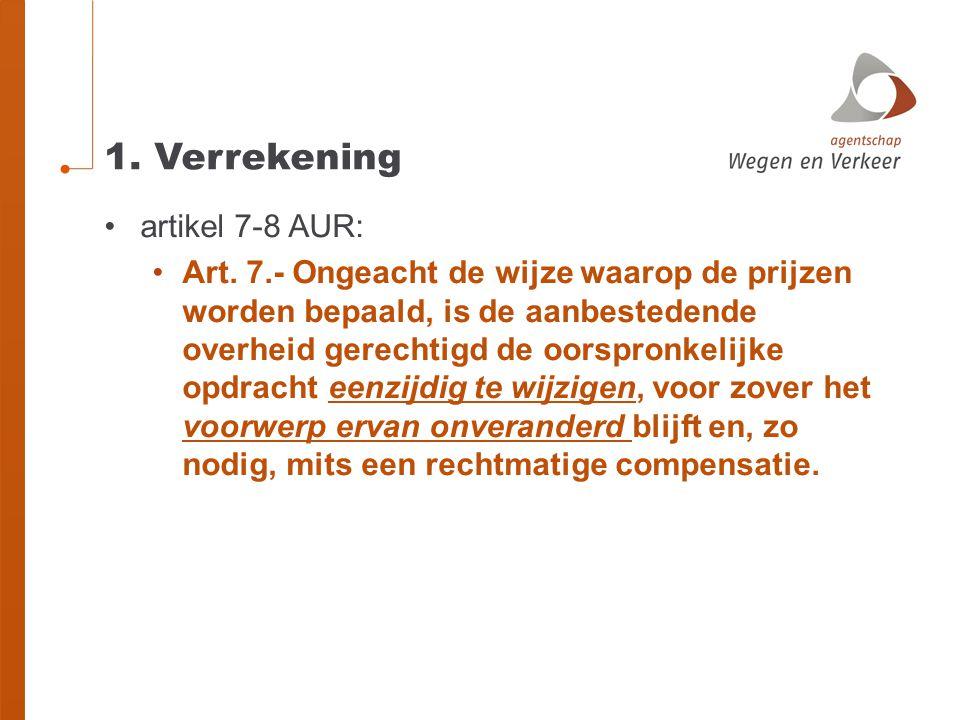 1. Verrekening artikel 7-8 AUR: