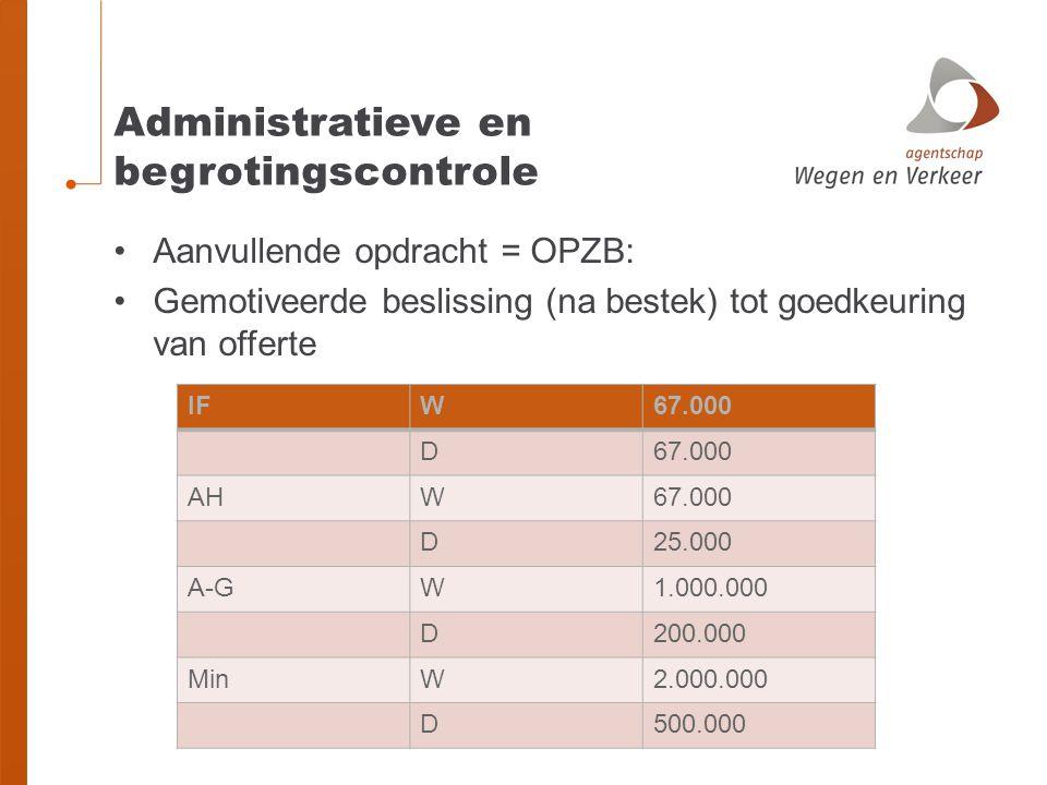 Administratieve en begrotingscontrole