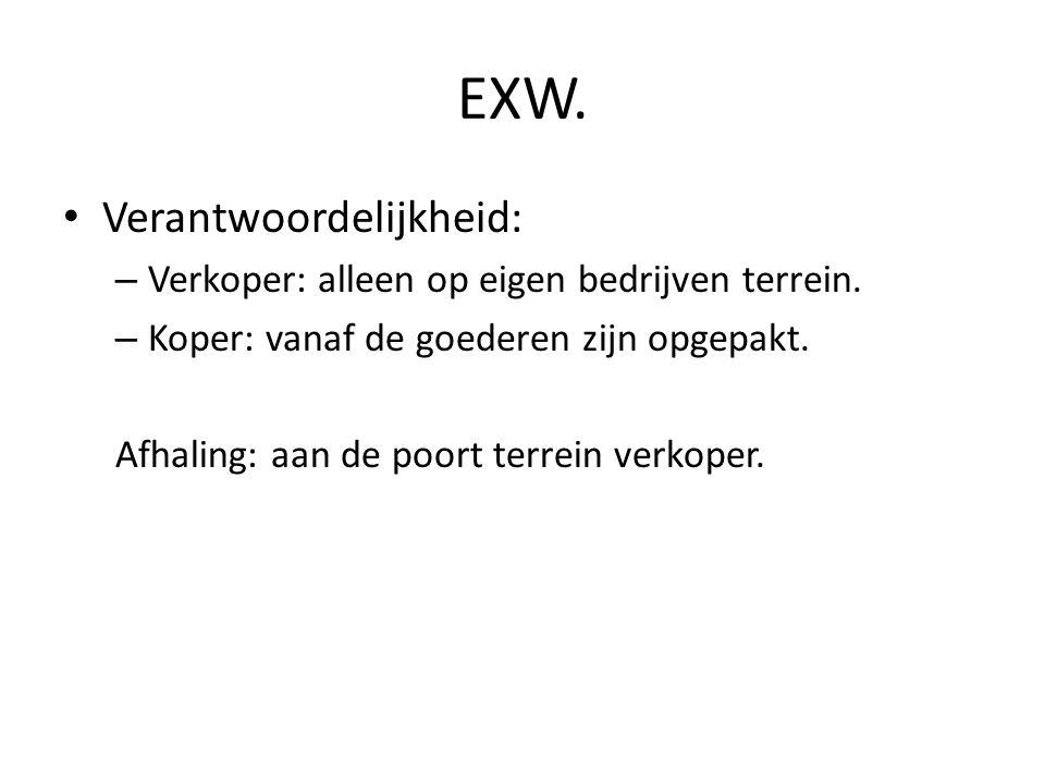 EXW. Verantwoordelijkheid: