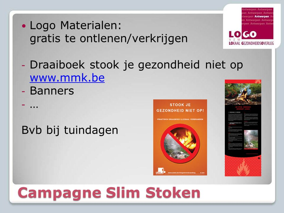 Campagne Slim Stoken Logo Materialen: gratis te ontlenen/verkrijgen