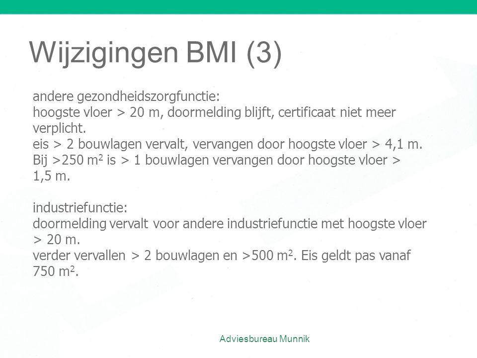 Wijzigingen BMI (3) andere gezondheidszorgfunctie: