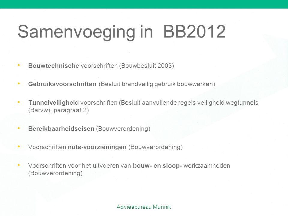 Samenvoeging in BB2012 Bouwtechnische voorschriften (Bouwbesluit 2003)