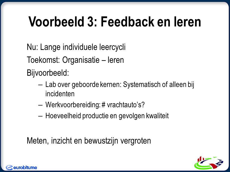 Voorbeeld 3: Feedback en leren