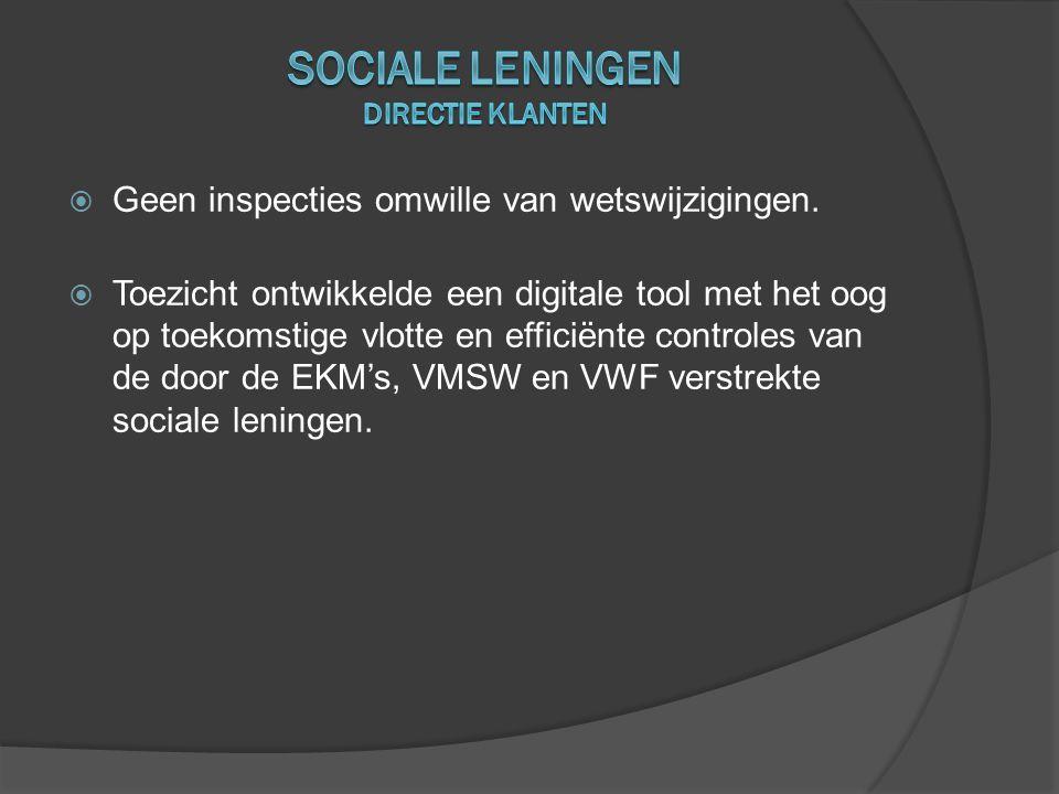 Sociale leningen directie klanten