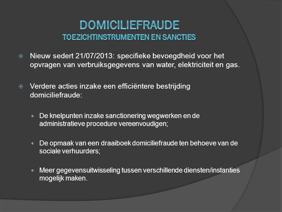 Domiciliefraude toezichtinstrumenten en sancties