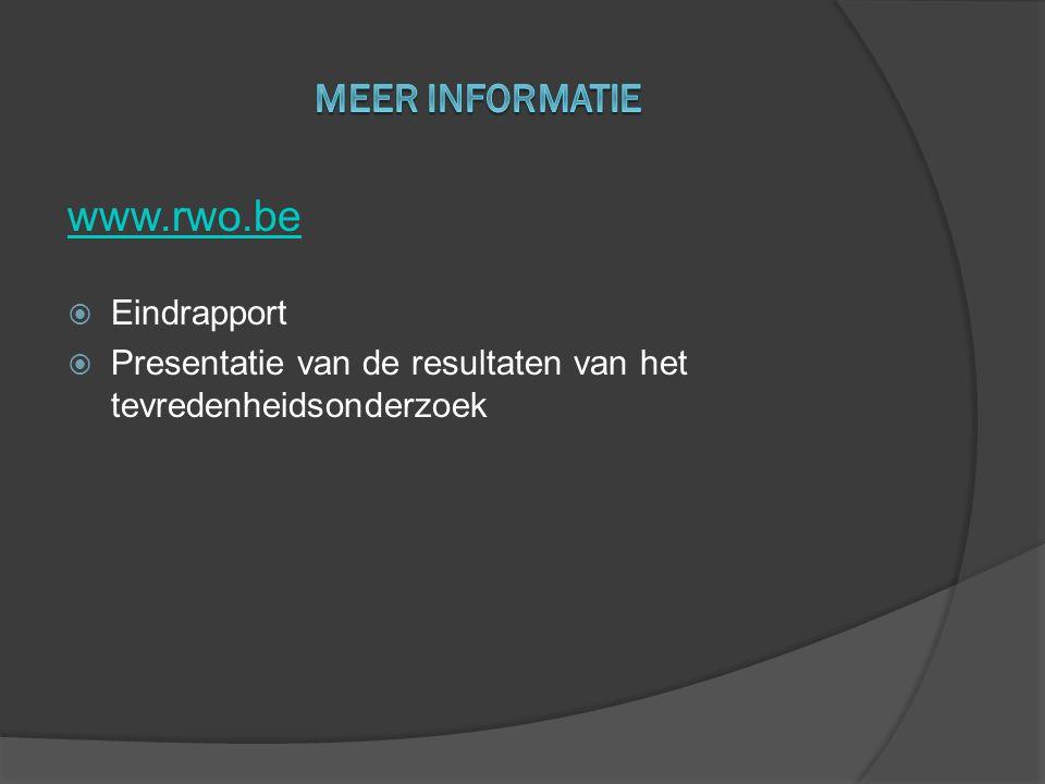 www.rwo.be Meer informatie Eindrapport