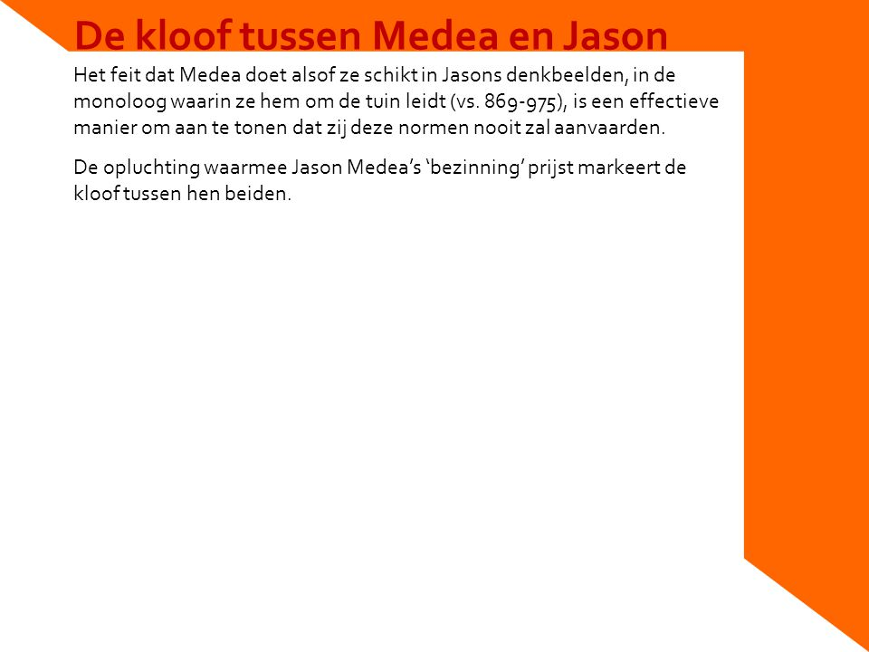 De kloof tussen Medea en Jason