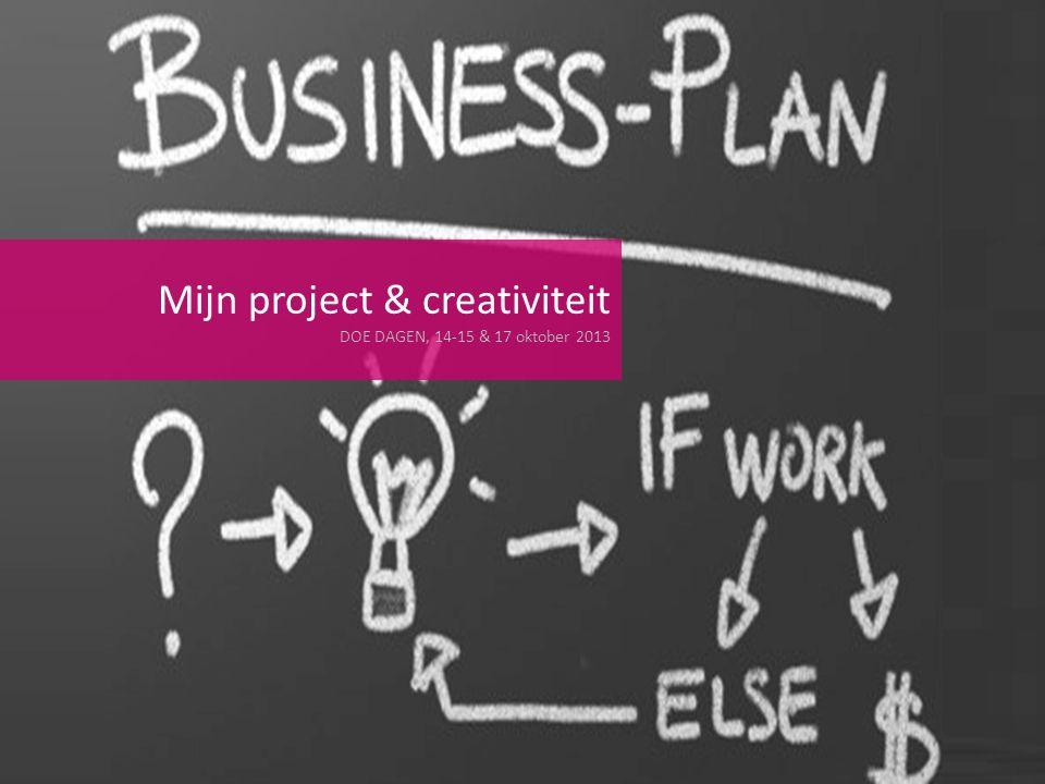 Mijn project & creativiteit